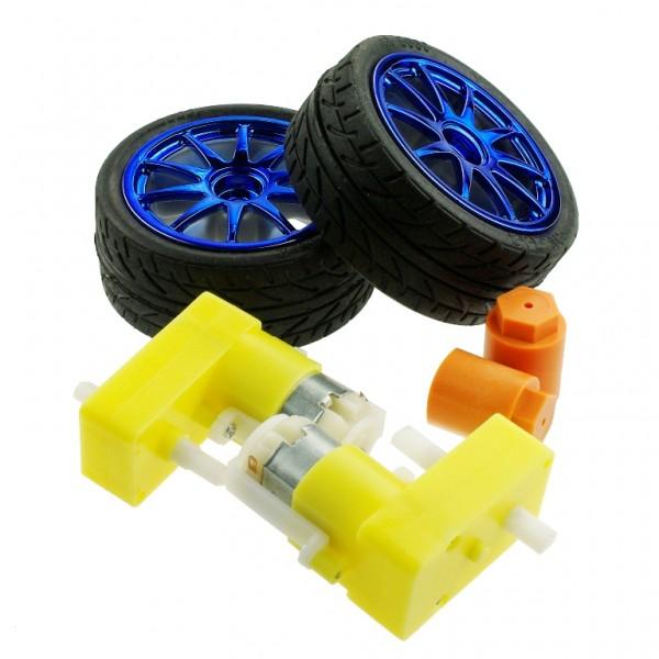 Набор D65 wheel set голубой для Arduino