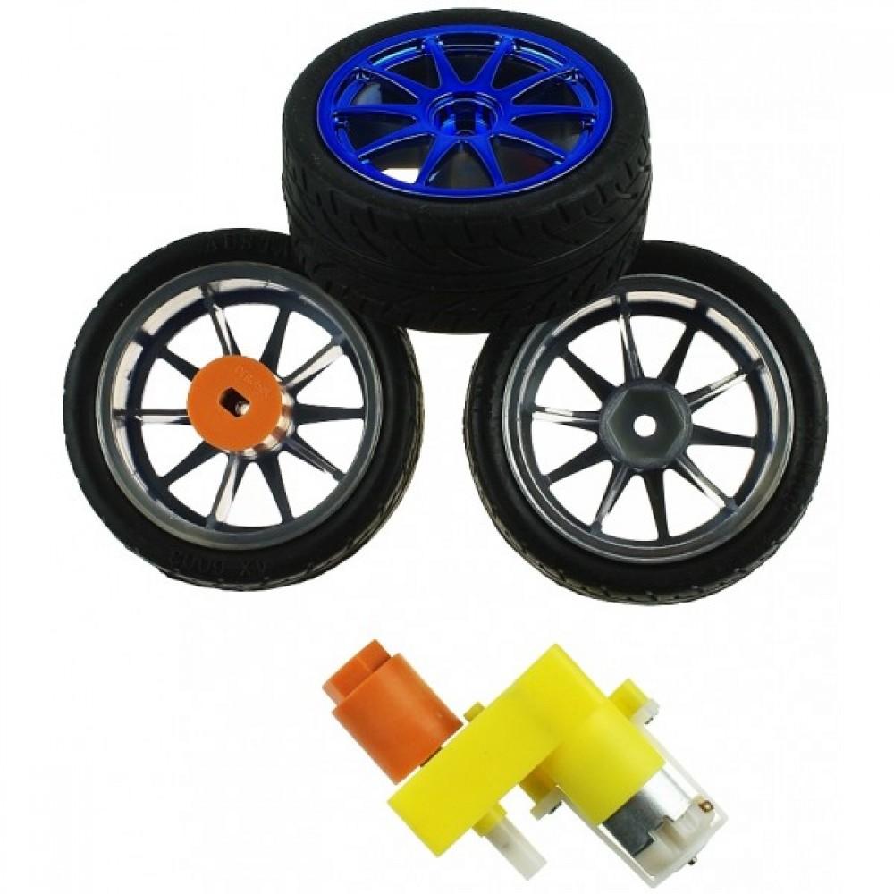 Резиновая пара колес D65mm для Arduino