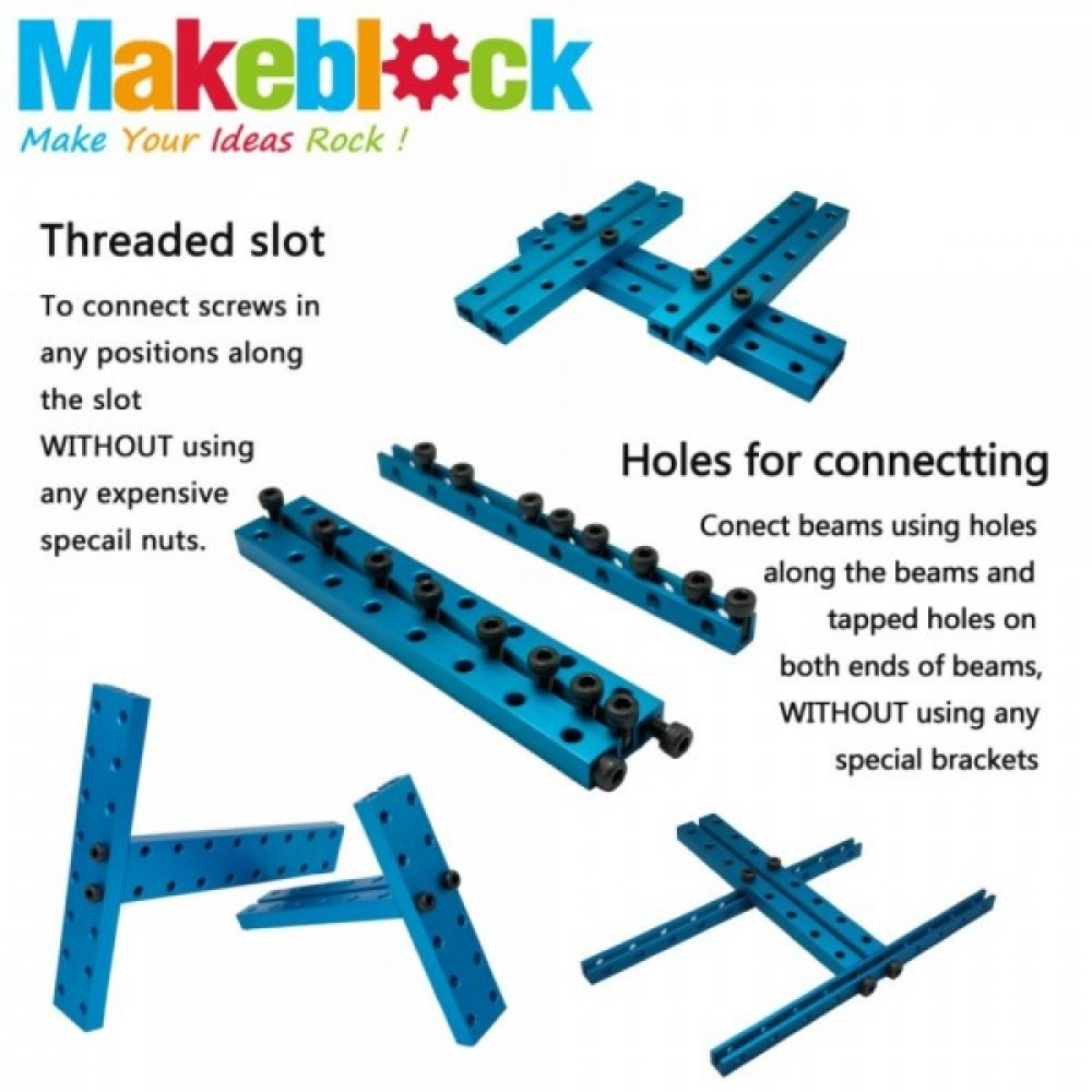 Платформа Makeblock 4WD Robot Kit – синяя