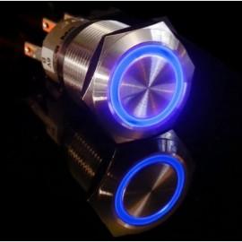 Металлическая освещенная кнопка синее кольцо для Arduino