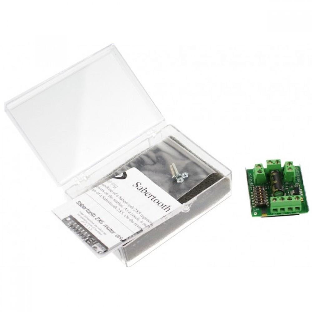 Мотор драйвер Sabertooth Dual 5A DC для Arduino