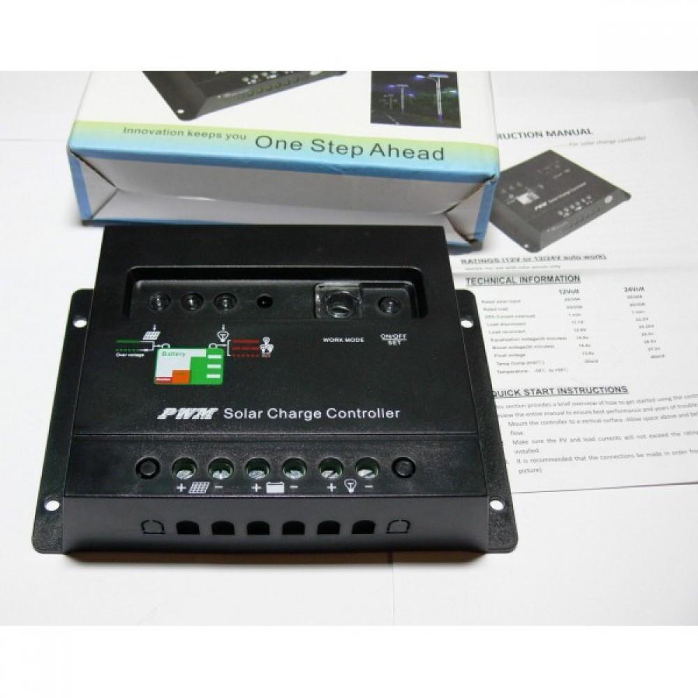 20A 12/24V контроллер зарядки Time/light солнечная