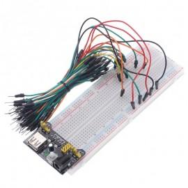 Набор стабилизатор напряжения, доска, соединительные провода