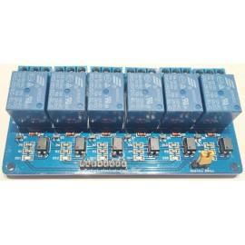 Модуль реле на 5V 6-канальный с оптическим переключением