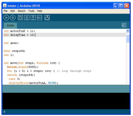 пример разработки кода